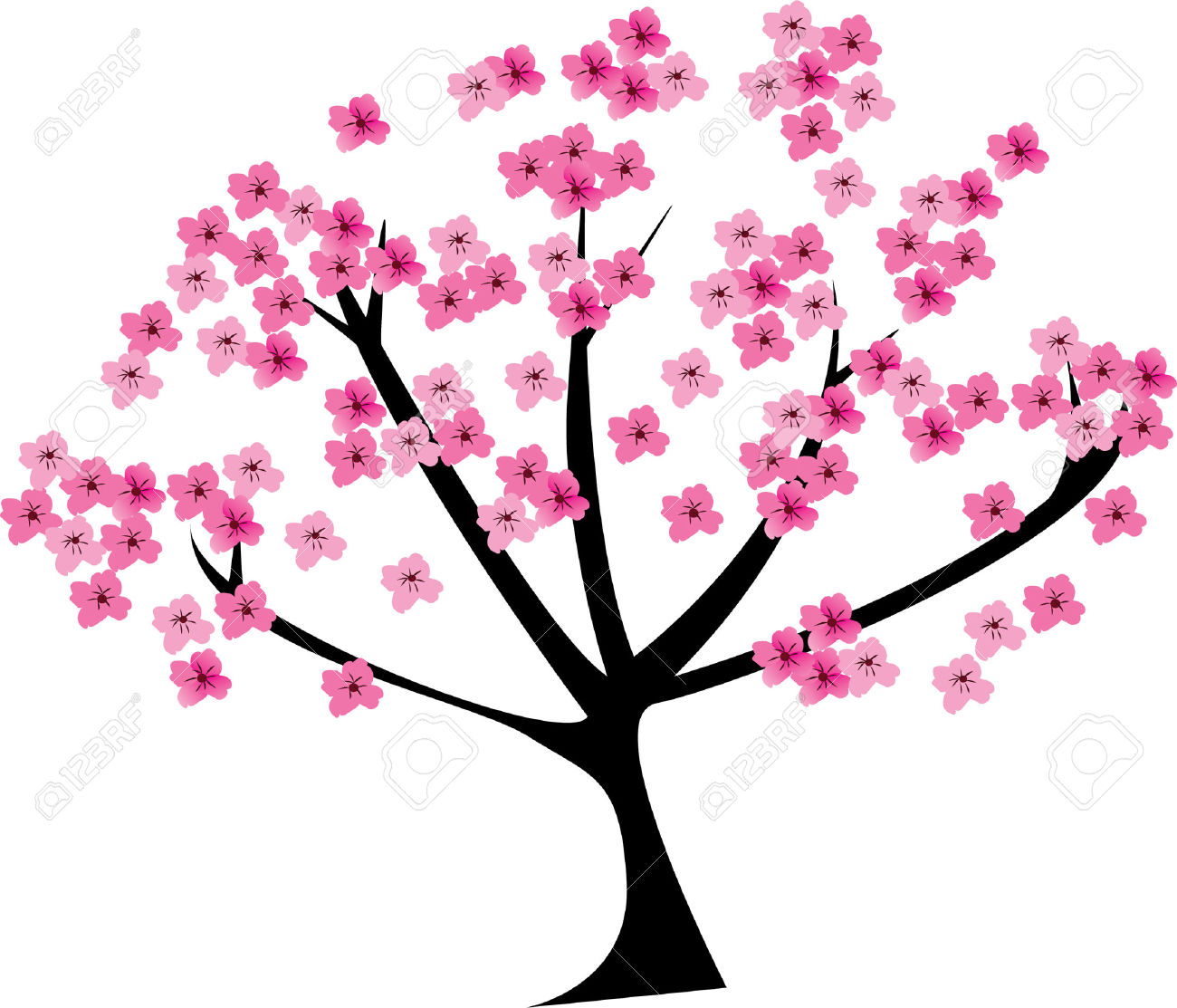 1300x1113 Cherry Tree Clipart Bloom
