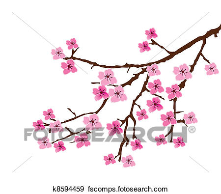 450x395 Clip Art Of Cherry Blossom K8594459