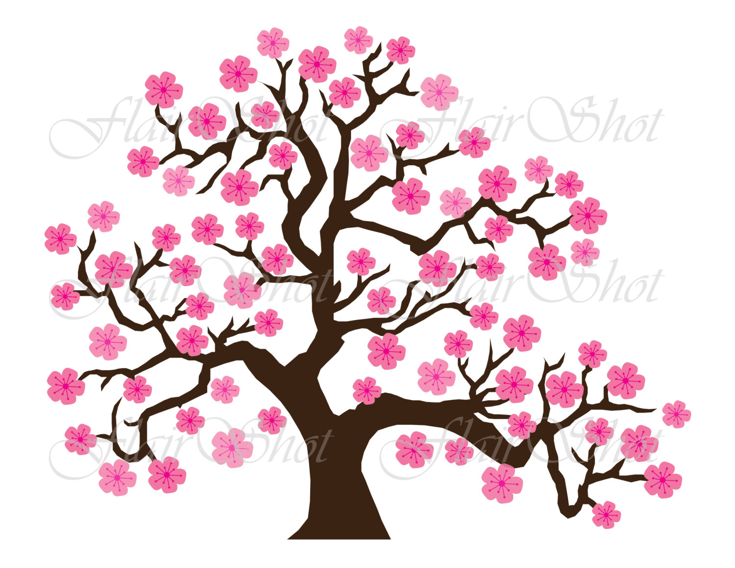 1500x1159 Digital Clip Art Pink Cherry Blossom Tree Clipart Bonsai