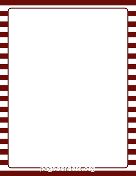 470x608 Maroon And White Striped Border Clip Art, Page Border, And Vector