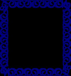 276x298 Blue Border Clip Art School Clip Art