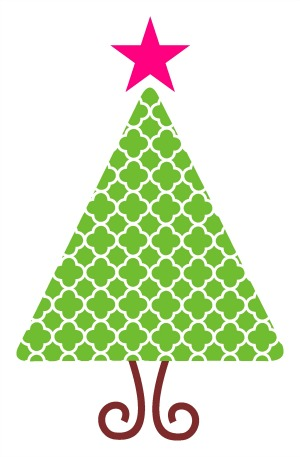 300x457 Graphics For Chevron Christmas Tree Graphics