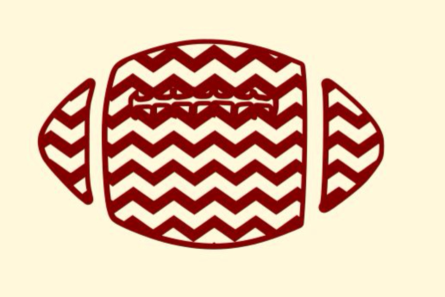 1500x1003 Chevron Football Clipart