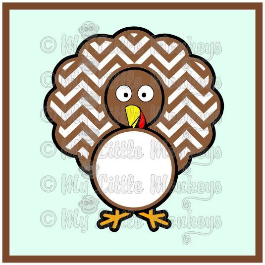 535x535 Chevron Turkey Clipart