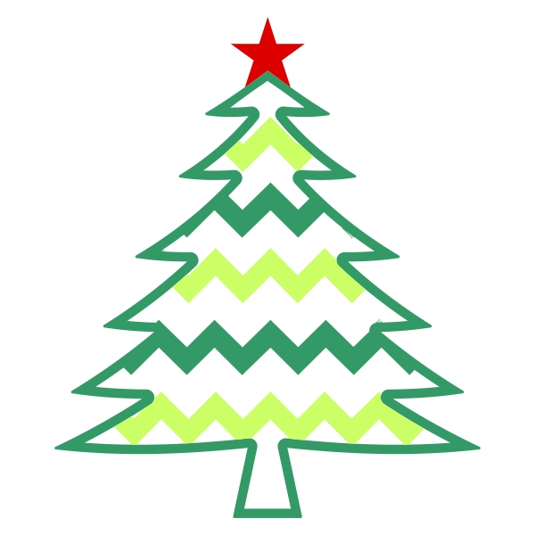 600x600 Christmas Tree Clipart Chevron