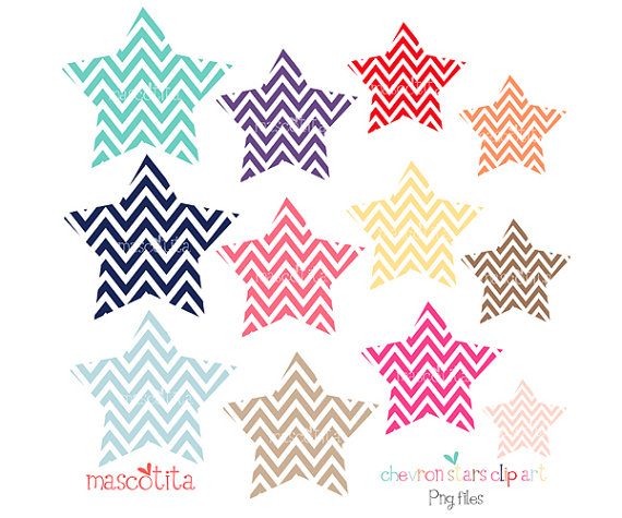 570x475 Items Similar To Chevron Stars Clip Art On Etsy
