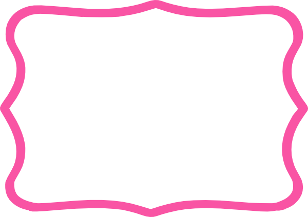 600x423 Frame Clipart Hot Pink