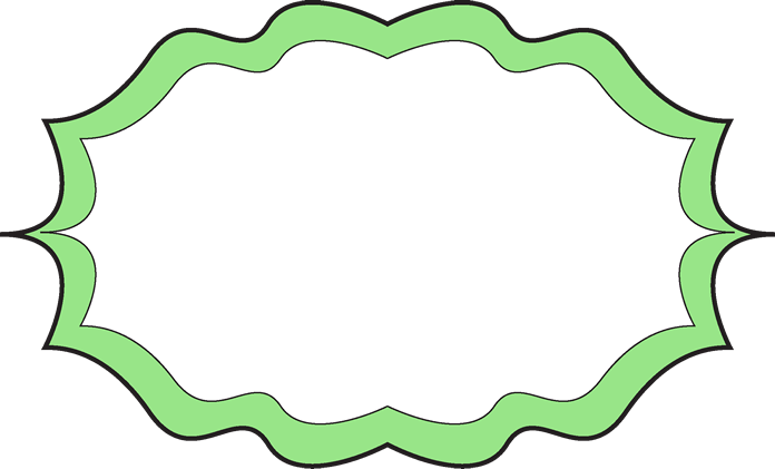 696x421 Lime Green Frame Clipart