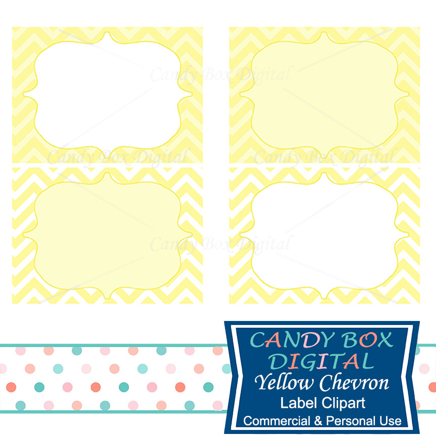 864x864 Yellow Label Clipart Chevron Digital Frame Clip Art