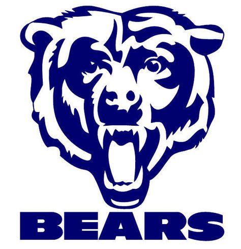 Chicago bears decal. Logo clipart free download