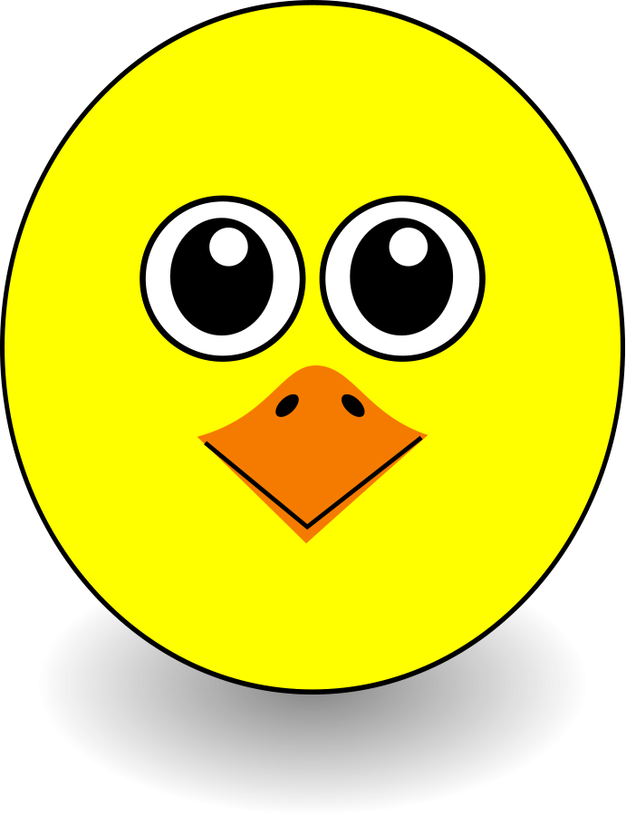 691x900 Cute Yellow Chick Clipart Free Clip Art Image
