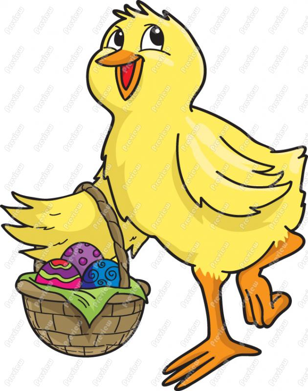 630x800 Easter Chick Clip Art