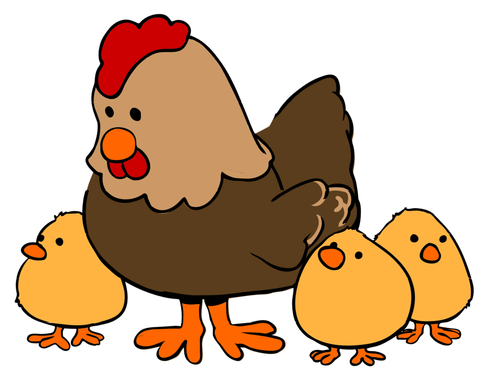 958x748 Public Domain Clip Art Image Cartoon Hen And Chicks Id