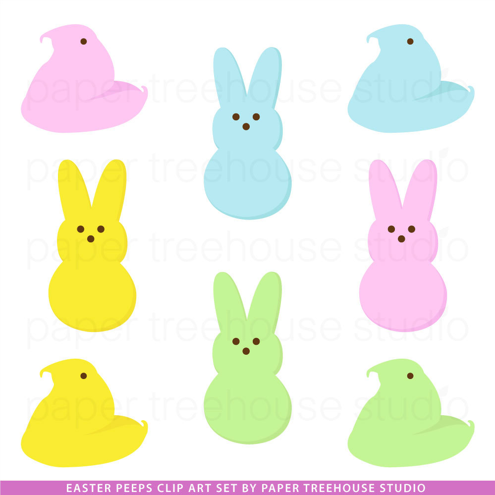 999x999 Peeps Black And White Clipart