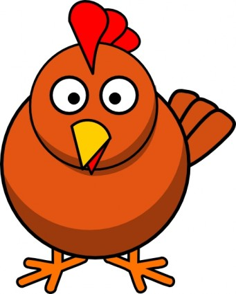 341x425 Chicken Cartoon Clip Art Free Vector In Open Office Drawing Svg 2