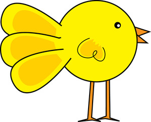 300x242 Yellow Chick Clipart
