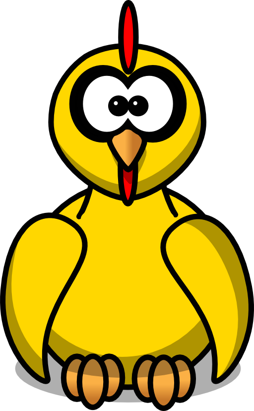 512x828 Cartoon Chick Clipart