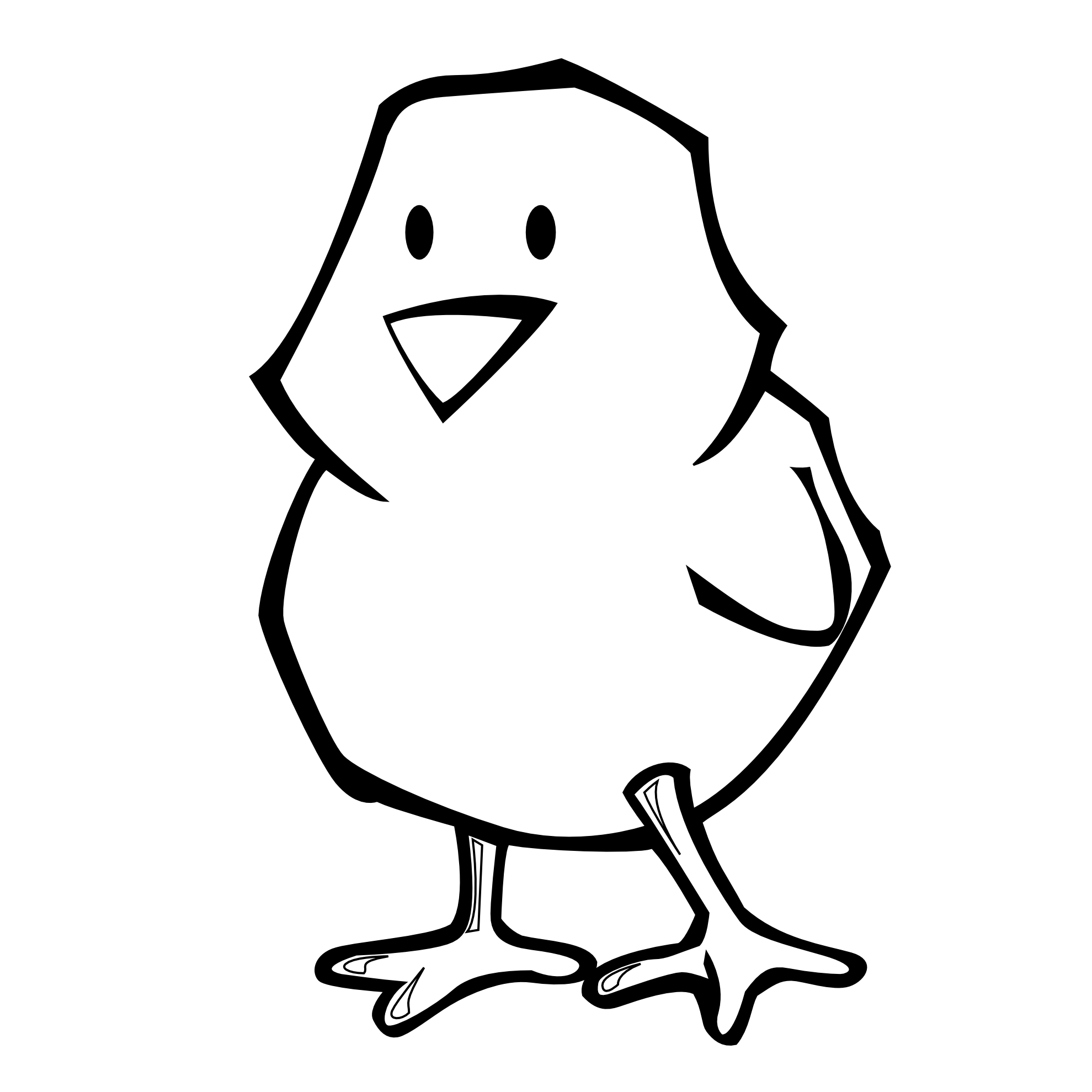 1979x1979 Chick Clipart Black And White