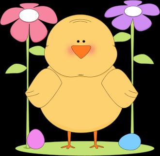 330x323 Easter Chick Easter Scene Clip Art