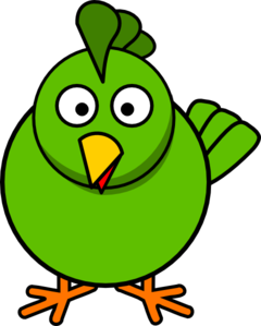 240x299 Green Chick Clip Art