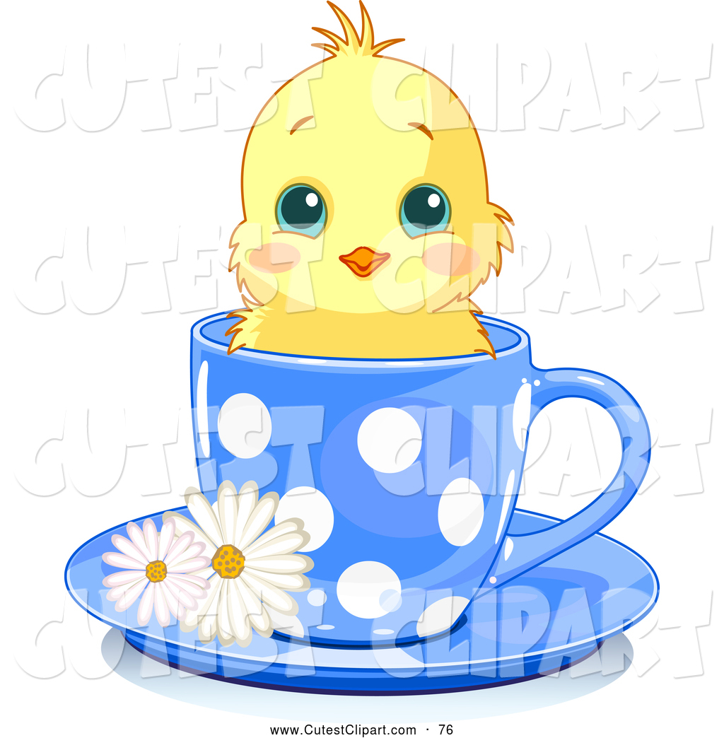 1024x1044 Vector Clip Art Of A Cute Adorable Yellow Chick In A Blue Polka