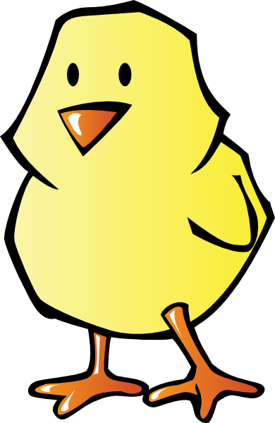 390x600 Baby Chick Clip Art