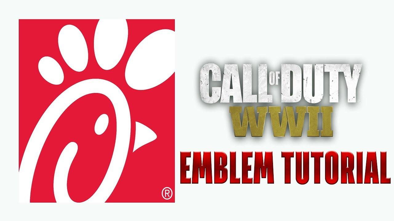 1280x720 Cod Ww2 Logo [Chick Fil A] Emblem Tutorial