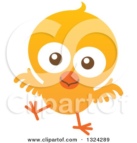 450x470 Clipart Of A Cartoon Baby Chick