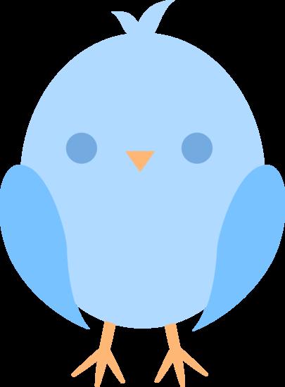 405x550 Cute Little Blue Easter Chick