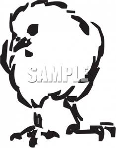 234x300 And White Cartoon Of A Baby Chick