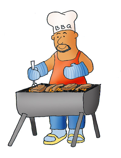 400x525 Bbq Grilling Clip Art Image 1