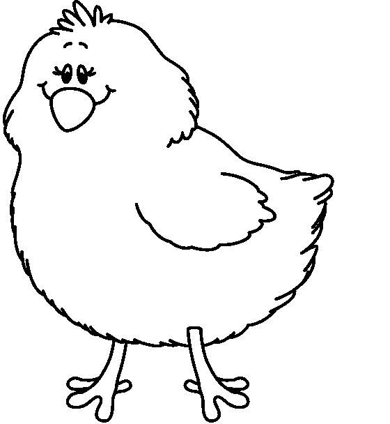560x608 Chick Clipart Black And White