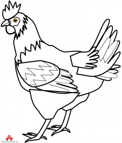 400x467 Chicken Animals Clipart Gallery Free Downloads By Animals Clipart