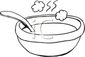 300x199 Chicken Soup Clipart Black And White