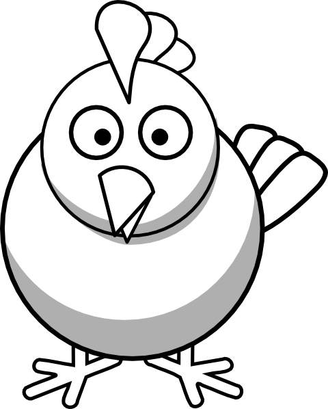 480x598 Vintage Chicken Clipart Black And White Free 3