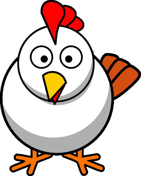 480x597 White Chicken Clip Art