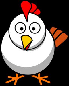 240x299 White Chicken Clip Art