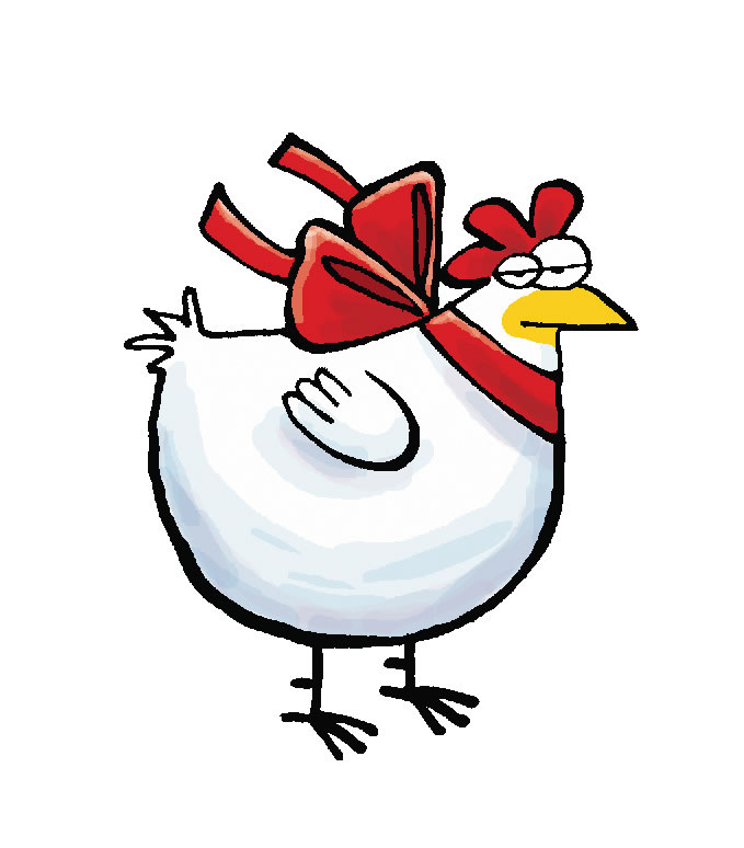 679x774 Chicken Clipart Christmas
