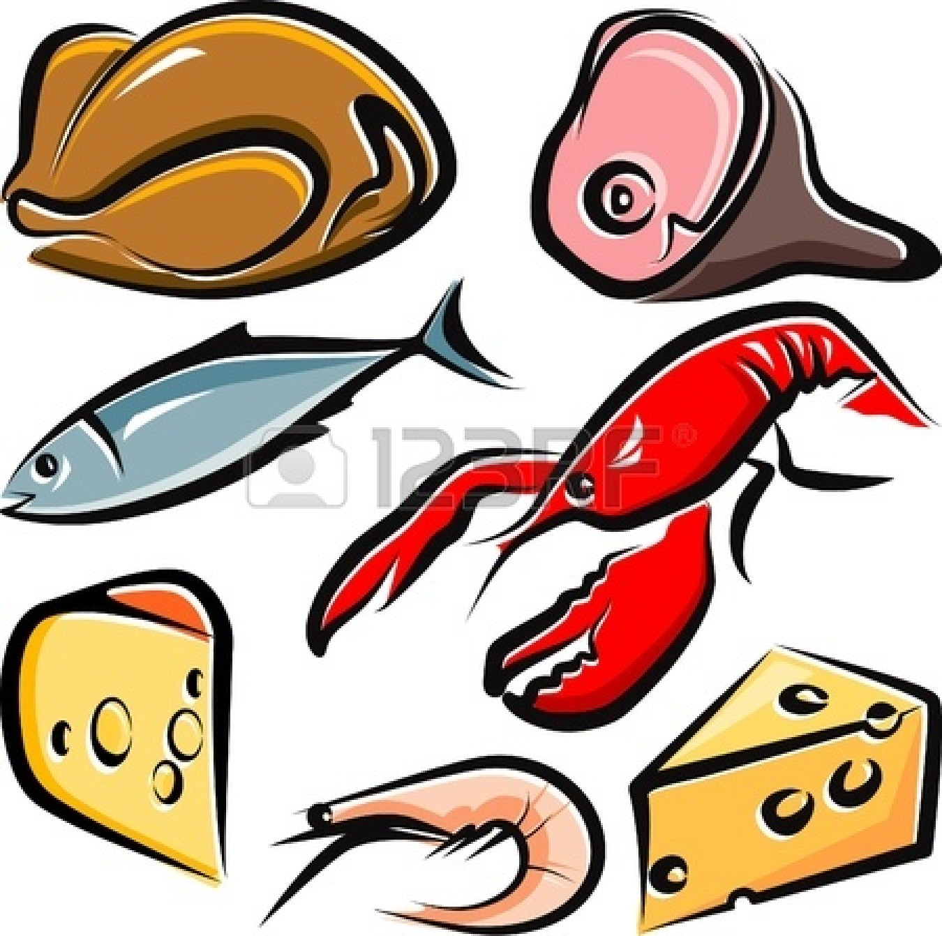 1350x1341 Chicken Clipart Cooked Fish
