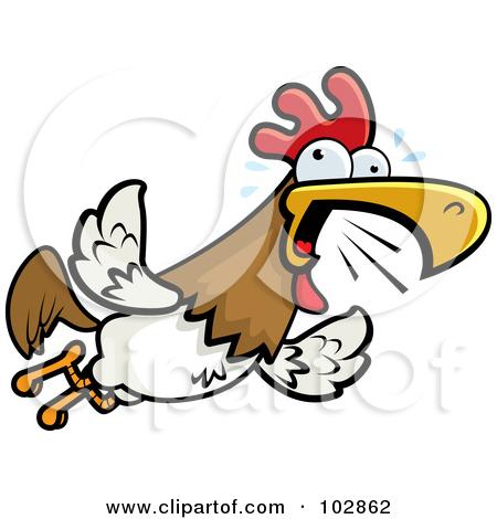 450x470 Clip Art Squawking Chicken Clipart