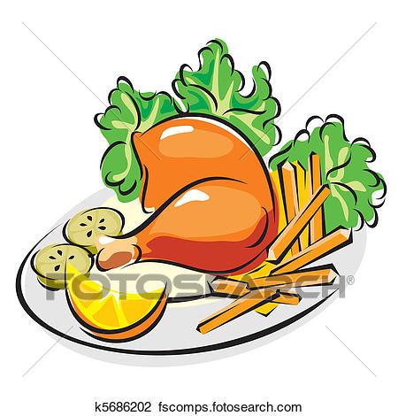 450x470 Chicken Dinner Clipart Royalty Free. 8,127 Chicken Dinner Clip Art