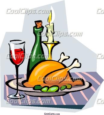 345x383 Dinner Food Clipart