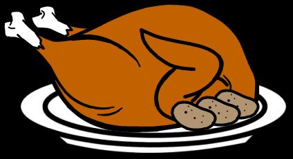424x231 Turkey Clipart Chicken Dinner