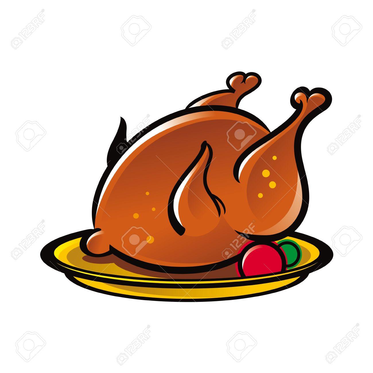 1300x1300 Turkey Clipart Chicken Dish