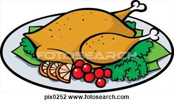 350x208 Chicken Dinner Clipart