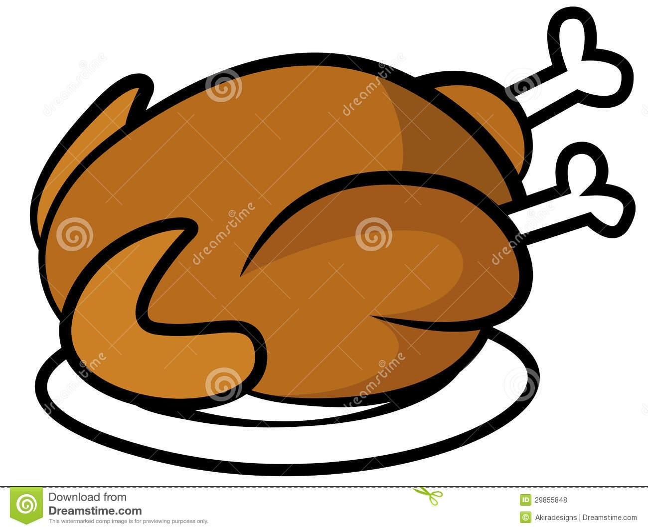 1300x1065 Chicken Dinner Clipart