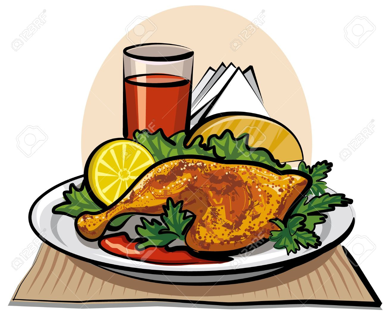 1300x1066 Meat Clipart Chicken Dinner