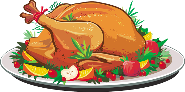 600x297 Roast Chicken Dinner Clipart