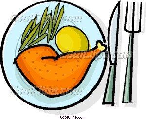 300x245 Chicken Dinner Vector Clip Art