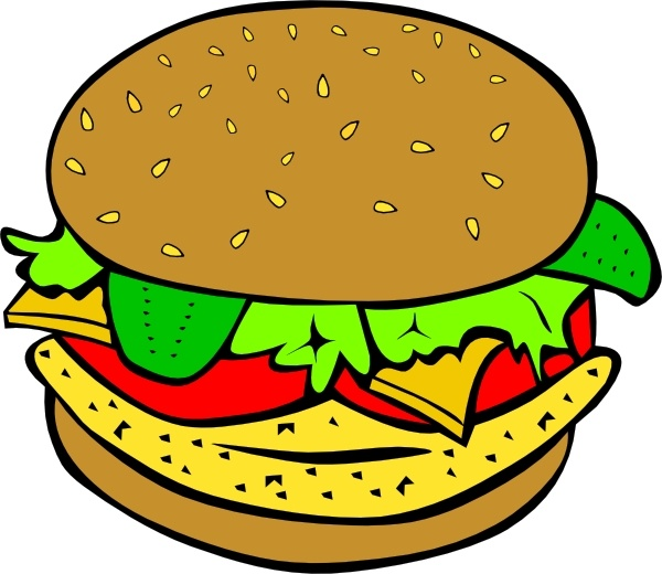 600x520 Chicken Burger Clip Art Free Vector In Open Office Drawing Svg